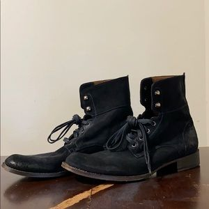 John Varvatos suede six 'o' six converitable boots